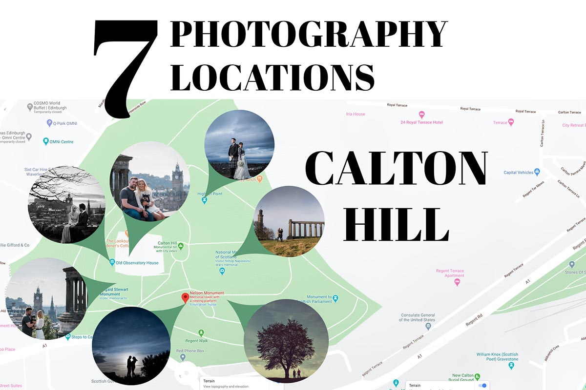 best photography locations on Edinburgh Calton Hill