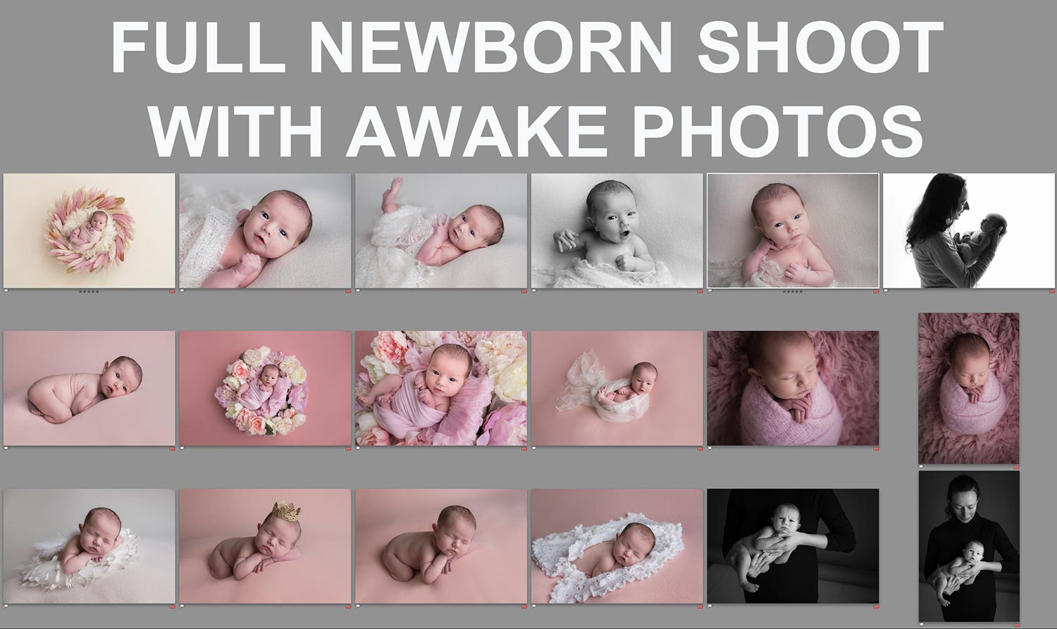 fussy and awake newborn photos guide.