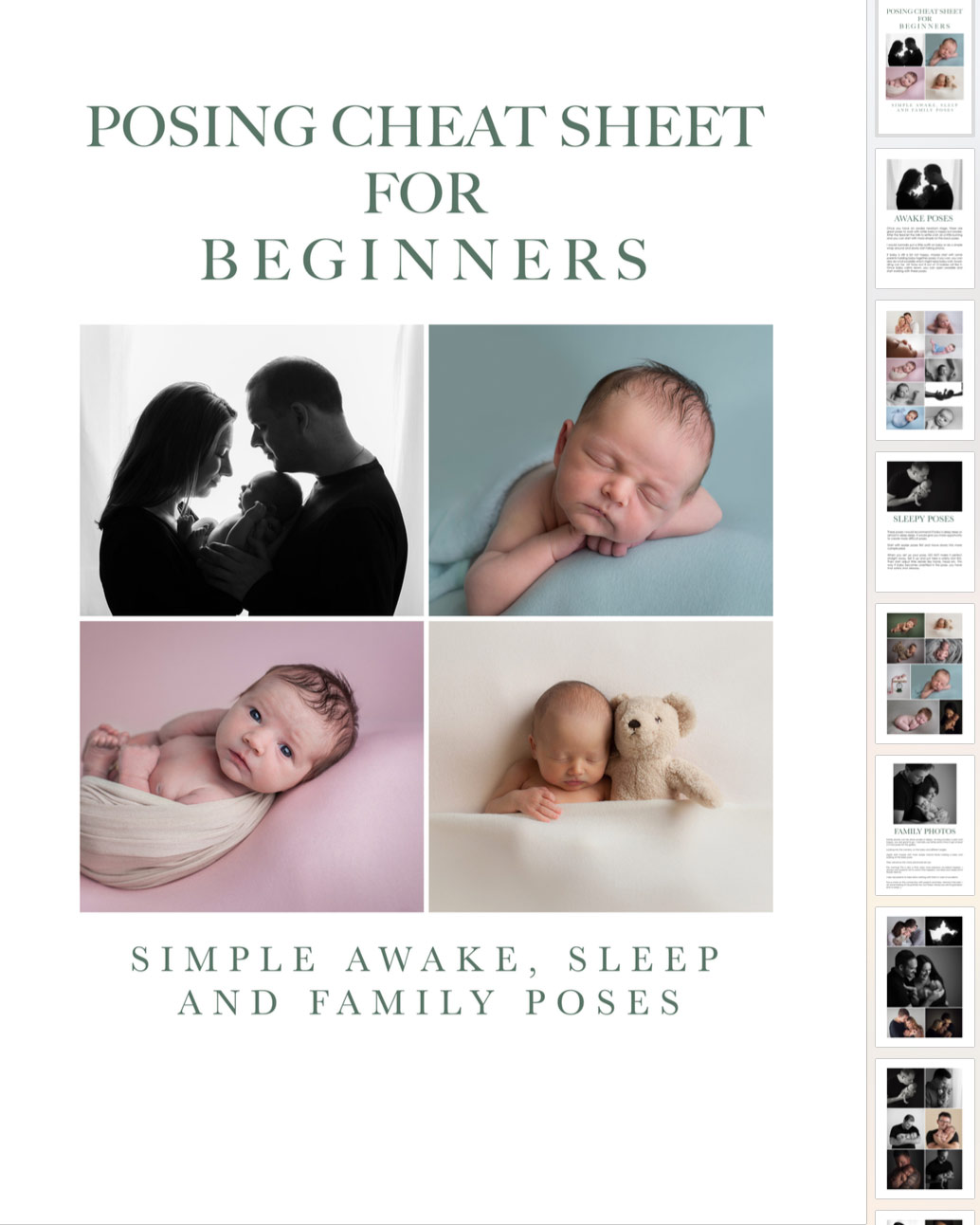 newborn poses cheat sheet for beginners