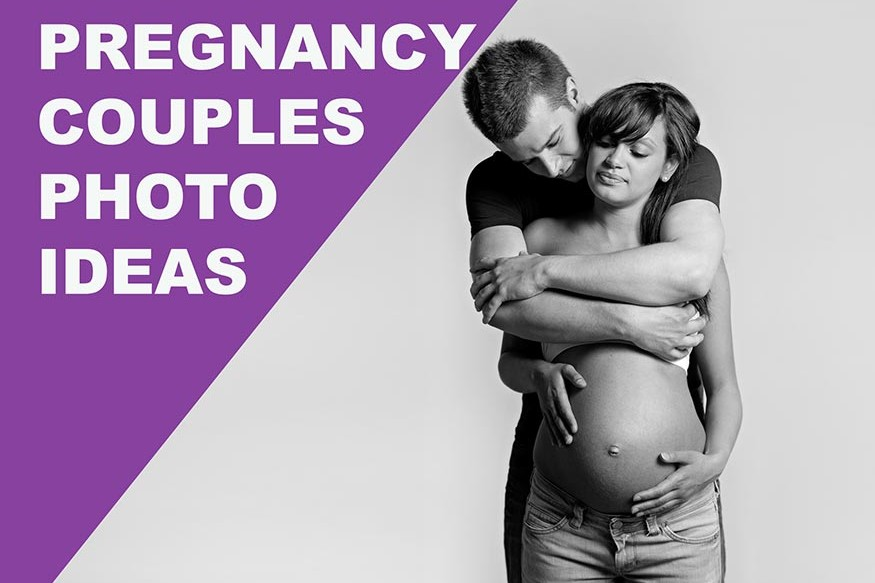 pregnancy couple during the photoshoot